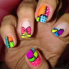 uñas muñeca - Buscar con Google Work Nails, Get Nails, Hair And Nails, Creative Nail Designs, Simple Nail Art Designs, Beach Toe Nails, Nail Art Techniques, Kawaii Nails, Rainbow Nails