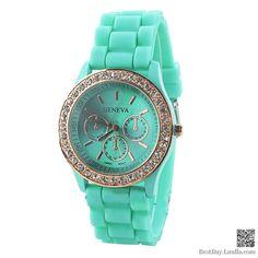 Mint Green Women Wristwatch pocket ..