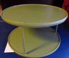 Vintage Rubbermaid Green 2 Tier Lazy Susan Turntable Spice Rack Organizer