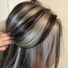 45 Top and Trending Hair Color Inspirations for This Winter - Hair - Hair Color Grey Hair Dye, Dyed Hair, Long Gray Hair, Ombre Hair, Hair Color And Cut, Cool Hair Color, Hair Colors For Fall, Hair Colour, Winter Hairstyles