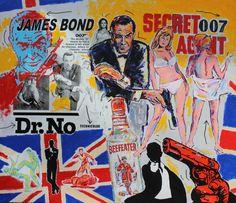 John Stango • James Bond • 70 X 80 • Acrylic on Canvas // 408.888.1500 // jcos.hello@gmail for acquisition info