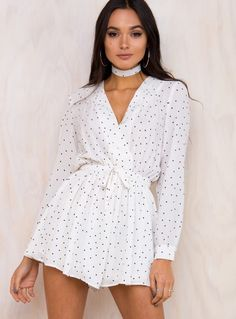 Wholesome 7 Polka Dot Playsuit