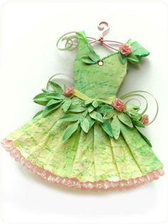 "* Paper Dress. ""Season Of The Green Fairy"" @KellBelleStudio"