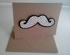 CARD Mustache  3D by LoveIsInTheMail on Etsy