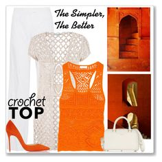 """""""The Simpler, The Better!"""" by dodine ❤ liked on Polyvore featuring Michael Kors, Garcia, maurices, Emilio Pucci, Yves Saint Laurent, Christian Louboutin and crochettop"""