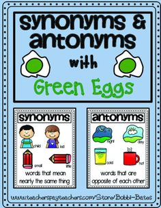 Adding 9 Worksheets Synonym And Antonym Worksheet  Antonymssynonyms  Pinterest  Suffix Ed Worksheet with Free Printable Worksheets For 6th Grade Excel Synonyms  Antonyms With Green Eggs Fun Worksheetsgreen  Trigonometry Worksheets Answers Word