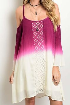Berry Beautiful Boho Dress