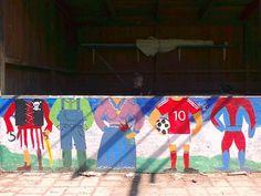 Vægmaleri i børnehøjde