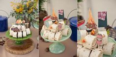 rustic camping baby shower