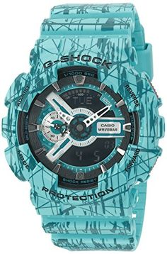 G-Shock GA-110 Slash Pattern Designer Watch - Turquoise / One Size *** To view further for this item, visit the image link.