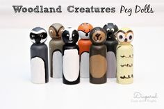 Make a woodland creatures  peg doll to honor your favorite forest-y friends. #handmade #holiday #christmas