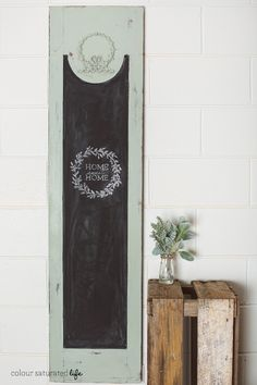 Colour Saturated Life | Upcycled Chalkboards