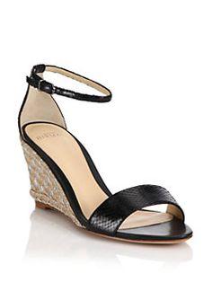 Alexandre Birman - Python Espadrille Wedge Sandals