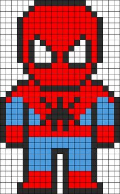 SpiderMan Perler Bead Pattern http://mistertrufa.net/librecreacion/culturarte/?p=12