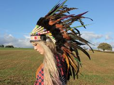 feather headdress by Rogue Pony
