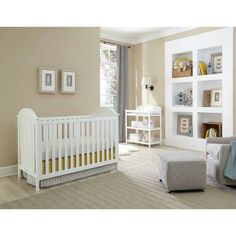 Westwood Designs Harper Cottage Crib With Detailed End Panels In White Toddler Bed Nursery And Baby