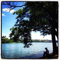 Thinker at Pampulha's lake, Belo Horizonte - Brazil