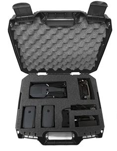 "Protect your drone and keep your accessories organized While traveling with DJI Mavic mini drone , remote control , propellers , charger and more Customizable 14"" X 10.75"" X 4"" pick and pluck foam interior allows compartments to be created for DJI Mavic and accessories in a layout of your choosing Hard exterior made of durable composite injection plastic. Internal Tri-Layer foam cushioning..."