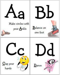 Free, Printable Alphabet Flash Cards