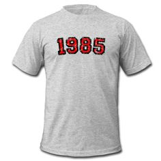 This Year 1985 Birthday Design Vintage Red (EU) T-Shirt is printed on a T-Shirt and designed by theshirtshops. Available in many sizes and colours. Buy your own T-Shirt with a Year 1985 Birthday Design Vintage Red (EU) design at Spreadshirt, your custom t-shirt printing platform!