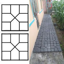 Front Garden Paving Driveway Paving Brick Patio Concrete Slab Path Garden Walk Maker Mould Uk S Stepping Stone Molds Concrete Stepping Stones Concrete Paving
