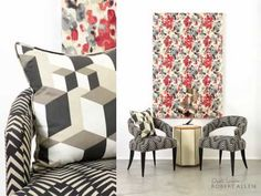 Experience Modern Color Theory, the new collection by @DwellStudio for Robert Allen #fabric #design