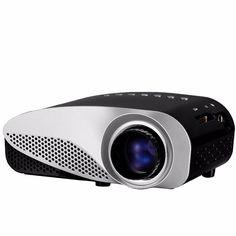 GP8S Mini Home Cinema Theater 1080P HD Multimedia PC USB LED Projector AV TV VGA HDMI
