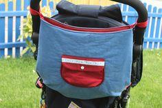 Kinderwagentasche nähen mit kostenlosem Schnittmuster #haus mit dem rosensofa