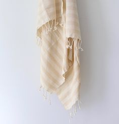 Natural Striped Turkish Towel – Mae Woven