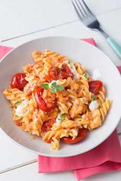 Italian Main Courses, Good Food, Yummy Food, Salty Foods, Creamy Pasta, Pasta Noodles, Pasta Dishes, Food Inspiration, Italian Recipes