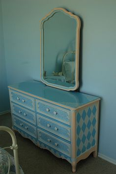 Blue Monday with mirror