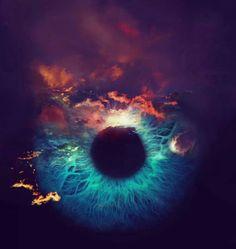 Saatchi Art Artist Miss Aniela; Photography Passing of an Eclipse large editi - Whirlpool Galaxy-Andromeda Galaxy-Black Holes
