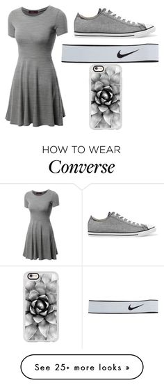 """""""First school dance"""" by gretchenlover on Polyvore featuring Doublju, Converse, NIKE and Casetify"""