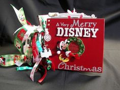 Christmas Disney scrapbook mini album