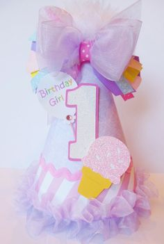 READY TO SHIP Lil' Ice Cream Party  by SandysSpecialtyShop on Etsy, $20.00