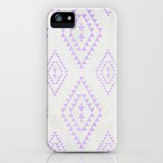 purple & gray tribal pattern iphone case