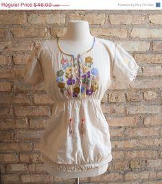 Vintage late 60's peasant blouse