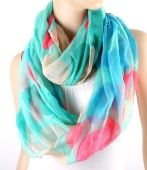 WRAP OVER TURQUOISE PAINT SPLASH EFFECT FASHION SCARF, pastel colour fashion scarf, pink and blue fashion scarf, summer scarf 2014 , snood pink splash scarf, Sophie's Jewellery Box