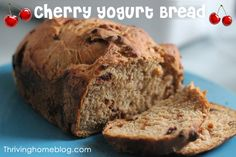 Cherry Yogurt Bread Machine Recipe: One of the best bread recipes I've made so far. You haven't had french toast until you've made it with this bread.