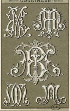 ru / Foto nº 85 - 25 - SvetlanN Monogram Fonts, Monogram Initials, Vintage Type, Vintage Art, Fancy Letters, Calligraphy Alphabet, Typography, Lettering, Illuminated Letters