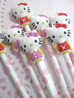 Kitty squishy matita Topper ciondoli, Charms Eraser