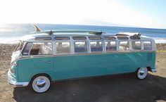 teal stretched bus ☮ See More #VWBus on https://www.pinterest.com/wfpblogs/vw-bus/ ☮