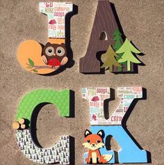 Custom Wooden Letters and Monograms by Dana! The uses for these custom wooden letters is endless, they make great Wooden Name Sign, Wooden Names, Letters for Nursery, Nursery Decor, Wall Hanging Letters, Baby Name Plaque, Wall Decor, Large Wooden Letters. Beautiful Wooden Monogram, Wooden initials, Photo Prop, Nursery decor, and Large Wood Wall Art. http://www.kidmuralsbydana.com/