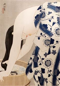 Ito Shinsui - Washing the hair - 1953