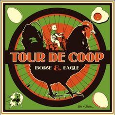 Boise & Eagle Tour 2011 De Coop Poster by Ward Harper: http://www.wardhooper.com/