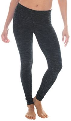 90 Degree by Reflex Power Flex Yoga Pants  Jet Black Space Dye  S >>> Want additional info? Click on the image. (Note:Amazon affiliate link)