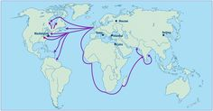 British East India Company travel map - Google Search