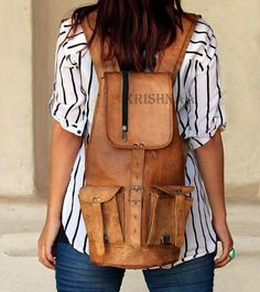 17 Leather Backpack rucksack bag for bike by artlovervinod on Etsy