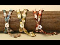Mosaic Wrap Bracelet - very detailed tutorial