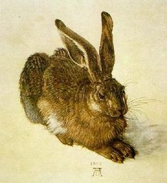 Young Hare by Albert Durer.  If I ever got a tattoo, this image would be a serious contender.  But is there an artist out there who could do it?  Durer would be a d*%n tough act to follow!
